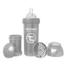 شیشه شیر آنتی کولیک تویست شیک 260 میل طوسی Twistshake