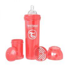 شیشه شیر آنتی کولیک تویست شیک 330 میل قرمز Twistshake